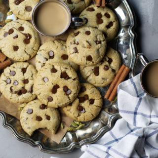 masala chai chocolate chip cookies ready
