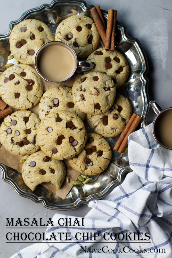 masala chai chocolate chip cookies readyTITLE