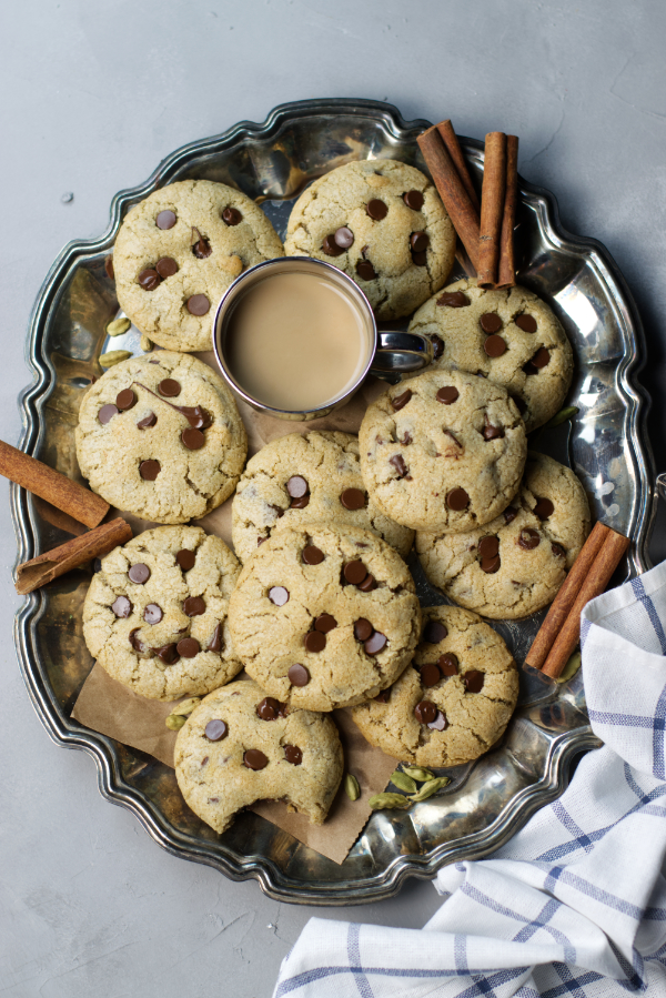 masala chai chocolate chip cookies