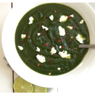 Potato Spinach Soup with Feta