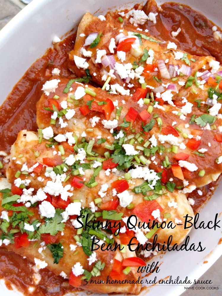 Skinny Quinoa Black Bean Enchiladas