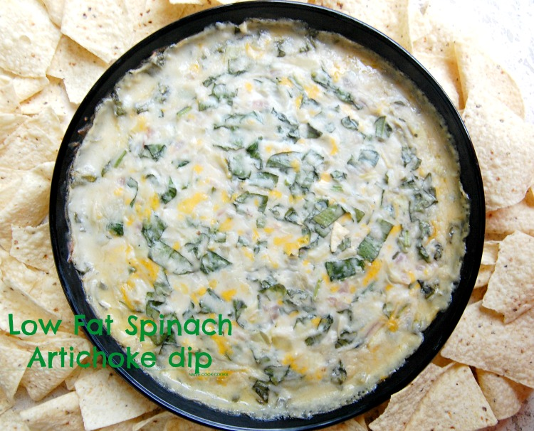 CPK Inspired Low Fat Spinach Artichoke Dip