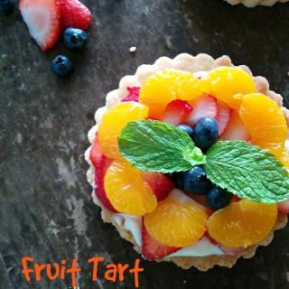 Cheesecake Pudding Fruit Tart