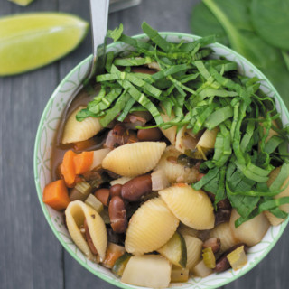 spinach minestrone soup 1