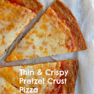 Thin and Crispy Pretzel Crust Pizza