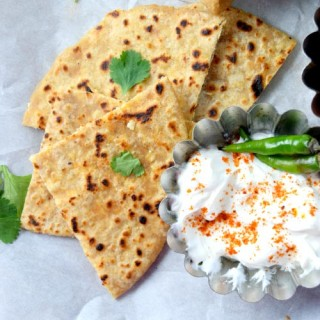 Paneer Parantha (Indian Cheese Stuffed Flatbread)