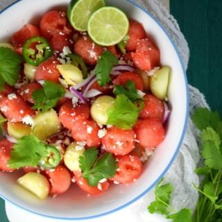 Refreshing Cucumber-Watermelon Salad