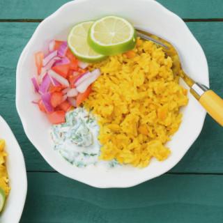 One Pot Lentils & Rice Bowl