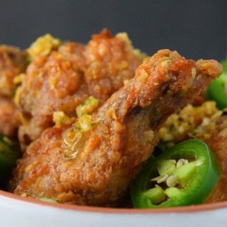 Sweet & Spicy Baked Chicken Wings