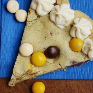 M&M Pecan Pie Pizza