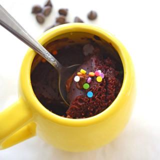 Double Chocolate Microwave Cake