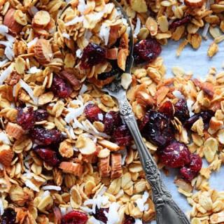 Homemade Cranberry Coconut Granola
