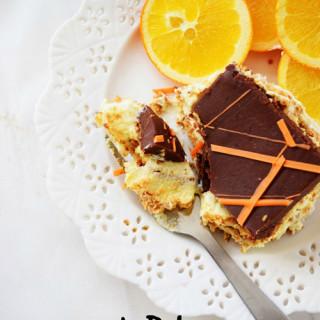 No Bake Orange Eclair Cake