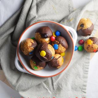 No Bake M&M Protein Balls