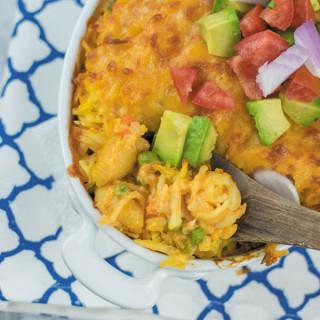 cheesy buffalo chicken hashbrown casserole 1