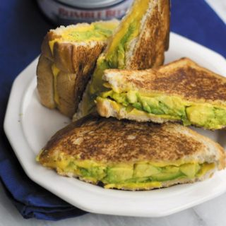 Avocado Tuna Melt - creamy avocado pesto with tuna makes for a quick grilled cheese that's not just delicious but healthier too!