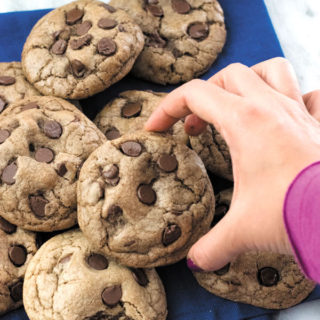 Double Chocolate Chip Cookies - THICK & CHEWY, extra Chocolatey, these cookies are LOVED by all ages! Simple to make, these are way better than store bought anytime!