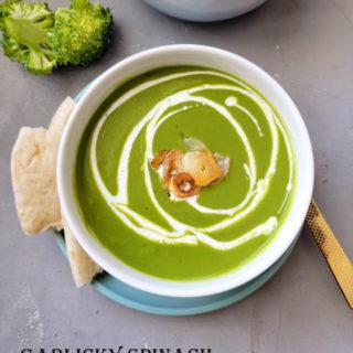 garlicky spinach broccoli soup ready title